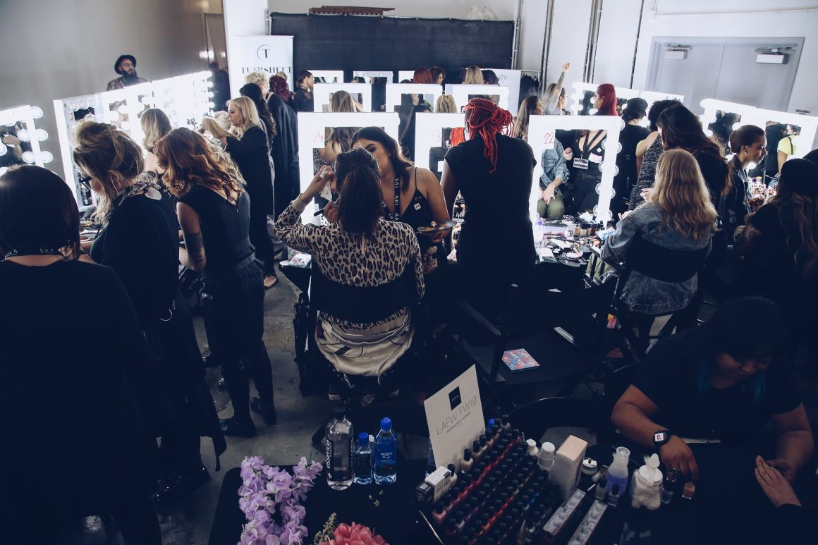 Backstage Beauty at Los Angeles Fashion Week